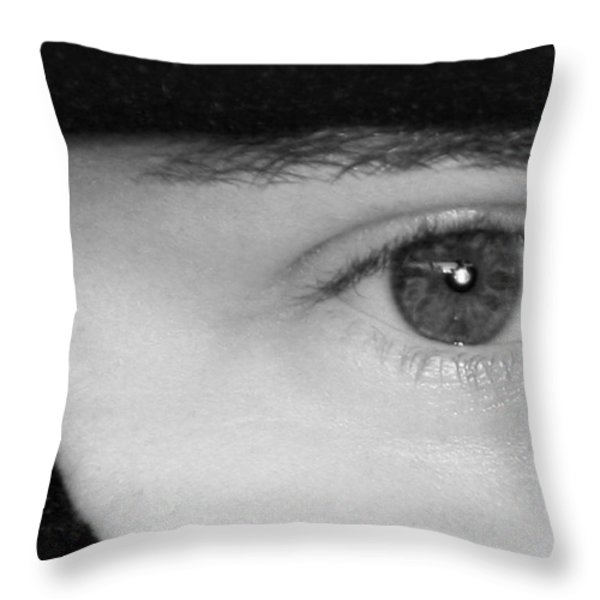 The Eyes Have It Throw Pillow by Christine Till