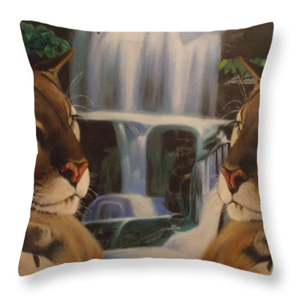 The Fall Of A Reflection  Throw Pillow by Jamie Preston