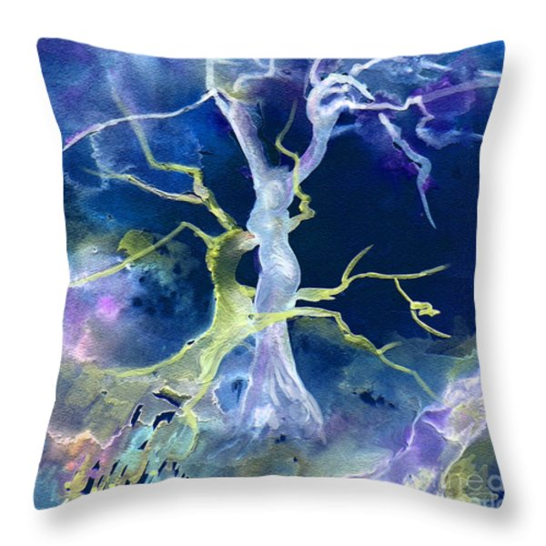 The Fall Of Sodom Throw Pillow by Miki De Goodaboom