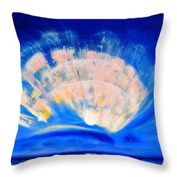Throw Pillows - The Fan of a Fairy Throw Pillow by Gina De Gorna