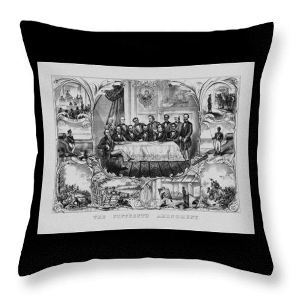 The Fifteenth Amendment  Throw Pillow by War Is Hell Store