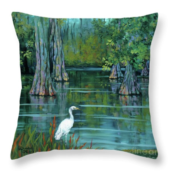 The Fisherman Throw Pillow by Dianne Parks