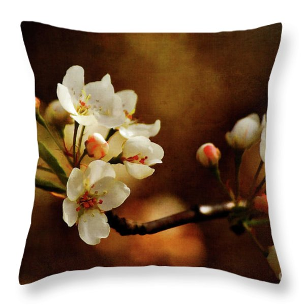 The Fleeting Sweetness of Spring Throw Pillow by Lois Bryan