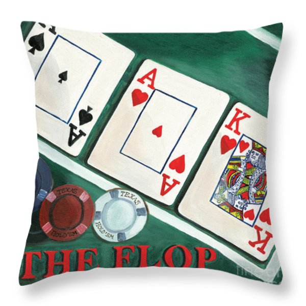 The Flop Throw Pillow by Debbie DeWitt
