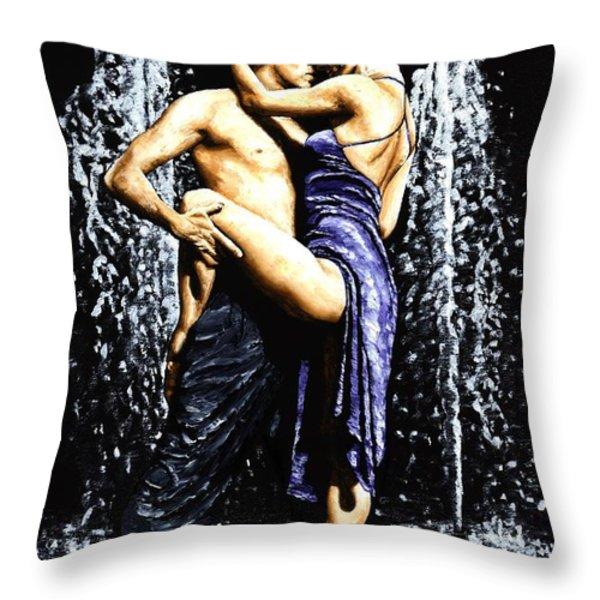 The Fountain Of Tango Throw Pillow by Richard Young
