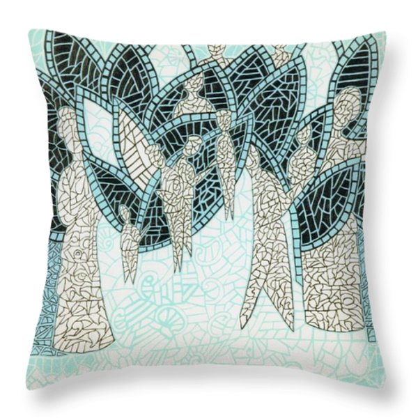 The Garden Of Eden Throw Pillow by Reb Frost