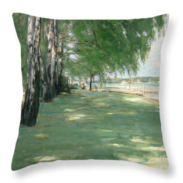 The Garden Of The Artist In Wannsee Throw Pillow by Max Liebermann