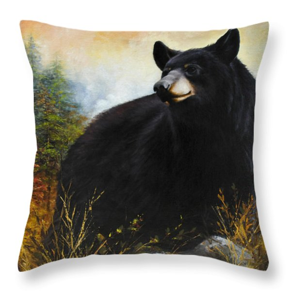 The Gatekeeper Throw Pillow by Katherine Tucker
