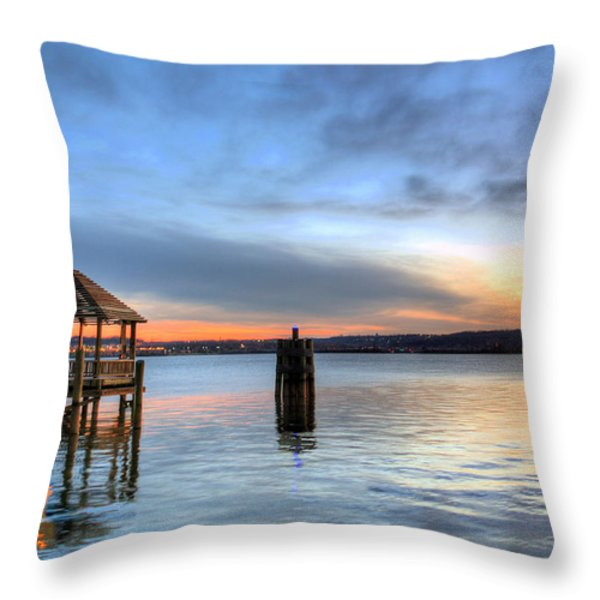 The Gazebo  Throw Pillow by JC Findley