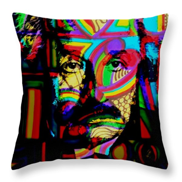 The Genius Throw Pillow by WBK