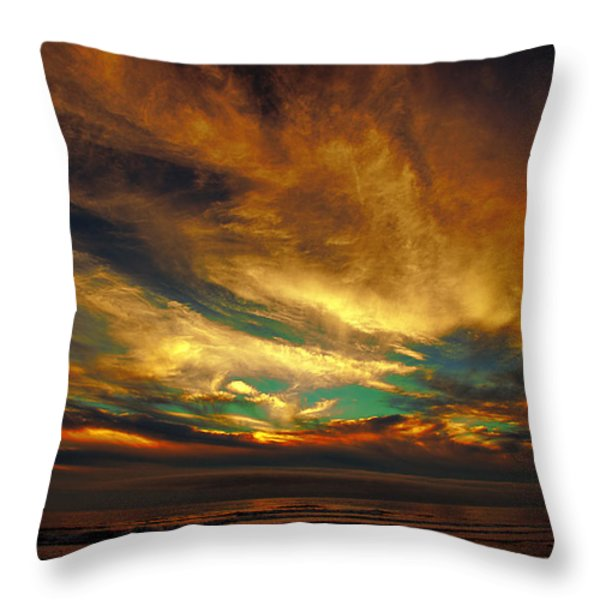 The Glory Throw Pillow by James Heckt