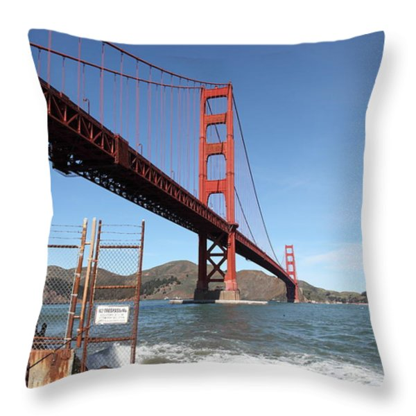 The Golden Gate Bridge at Fort Point - 5D21473 Throw Pillow by Wingsdomain Art and Photography