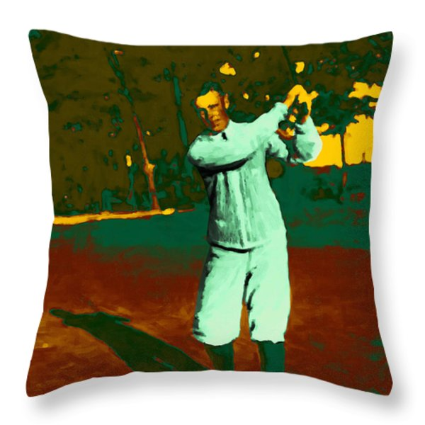 The Golfer - 20130208 Throw Pillow by Wingsdomain Art and Photography