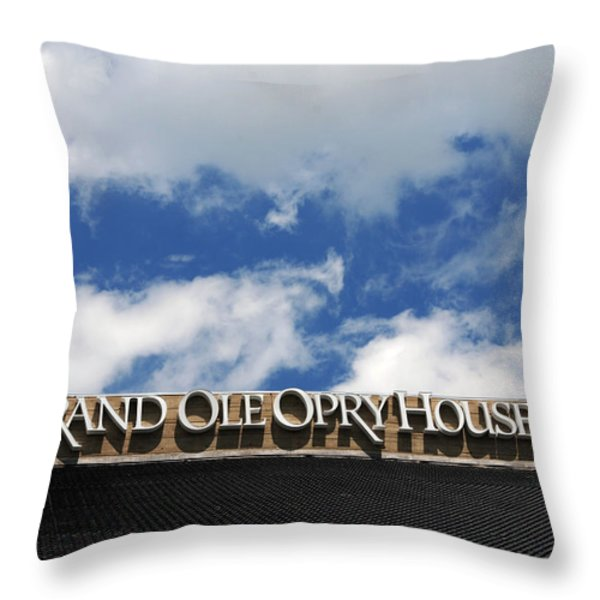 The Grand Ole Opry Nashville Tn Throw Pillow by Susanne Van Hulst