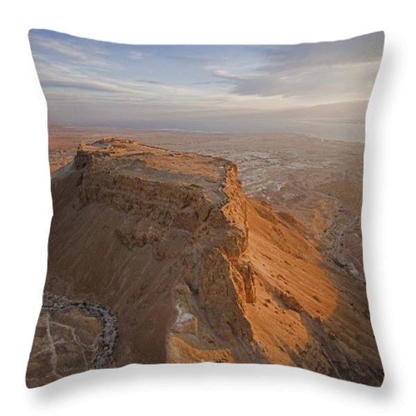 The Great Refuge Of Masada Looms Throw Pillow by Michael Melford