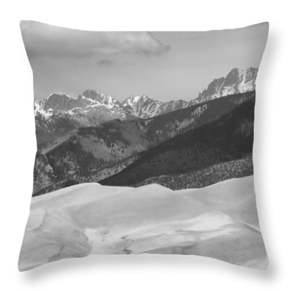 The Great Sand Dunes Bw Print 45 Throw Pillow by James BO  Insogna