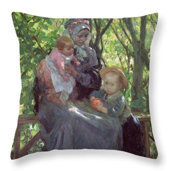 The Grove Throw Pillow by Julius Gari Melchers