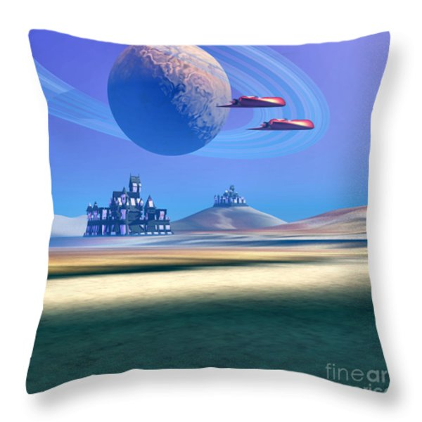 The Guardians Throw Pillow by Corey Ford