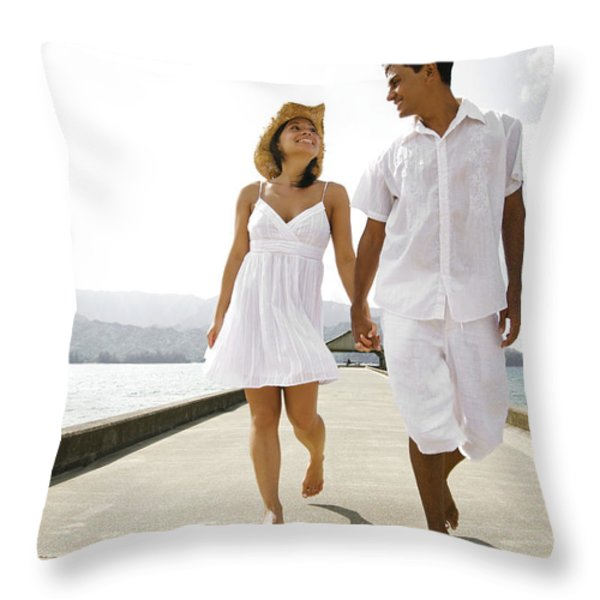 The Happy Couple Throw Pillow by Kicka Witte - Printscapes