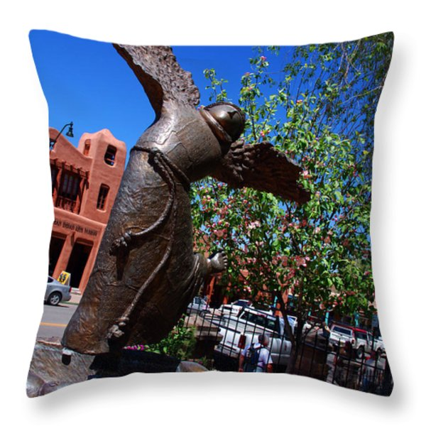 The Happy San Francis Throw Pillow by Susanne Van Hulst