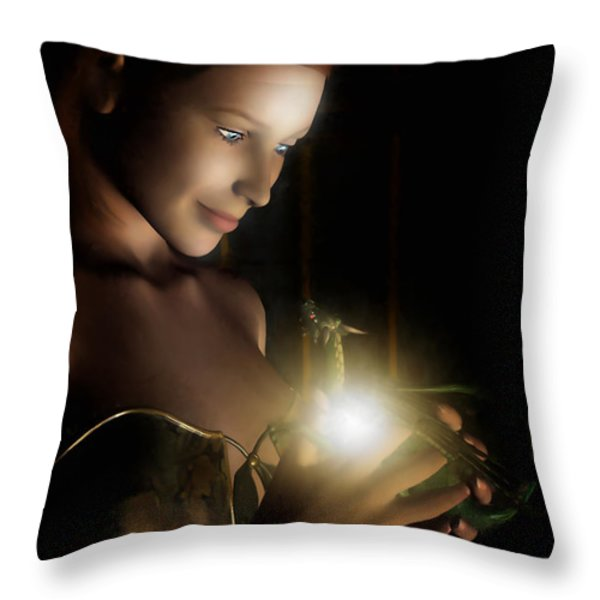 The Hatchling Throw Pillow by John Edwards