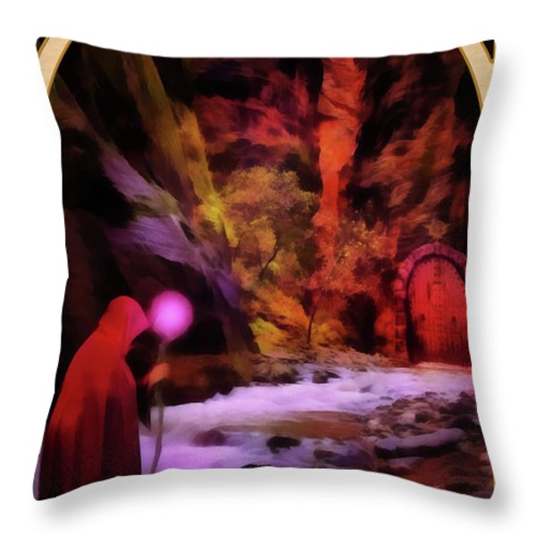 The Hermit Throw Pillow by John Edwards