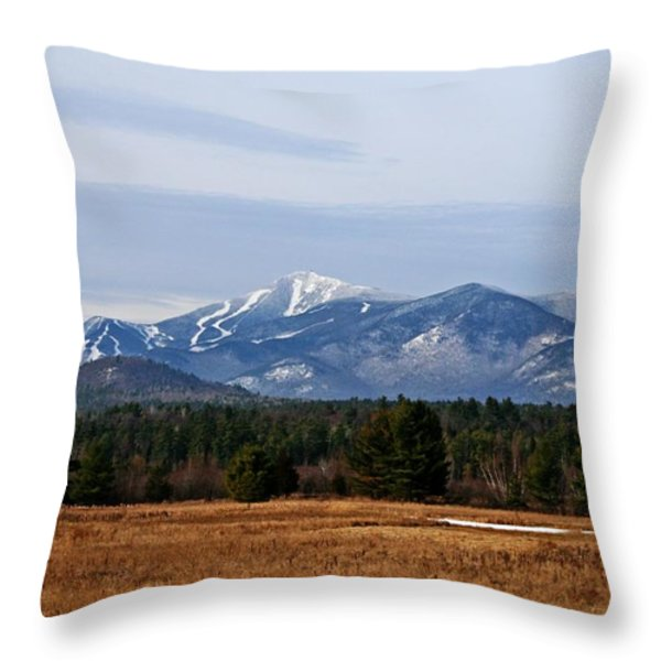 The High Peaks Throw Pillow by Heather Allen