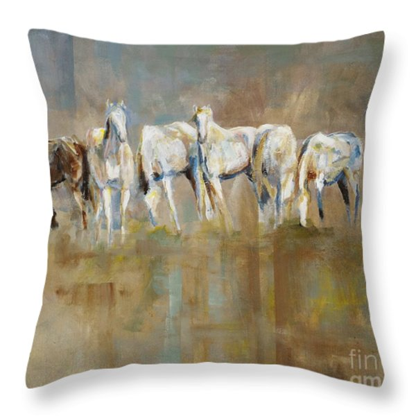 The Horizon Line Throw Pillow by Frances Marino
