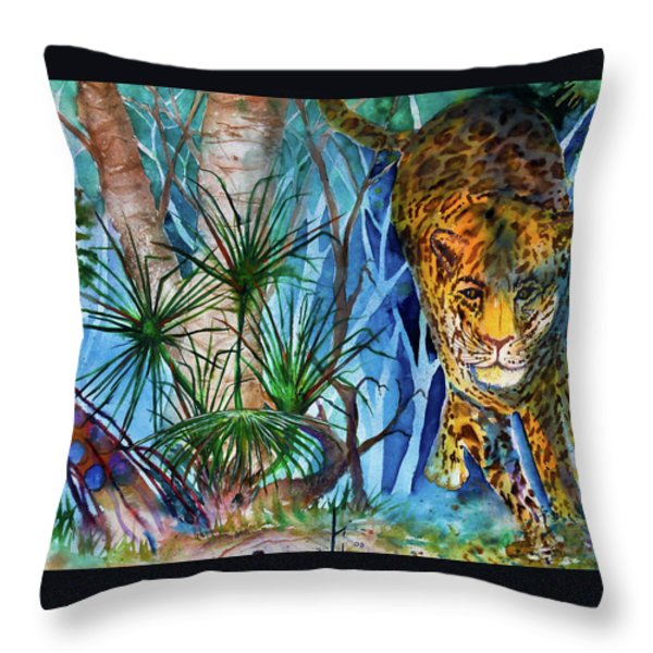 The Hunt Throw Pillow by Larry  Johnson