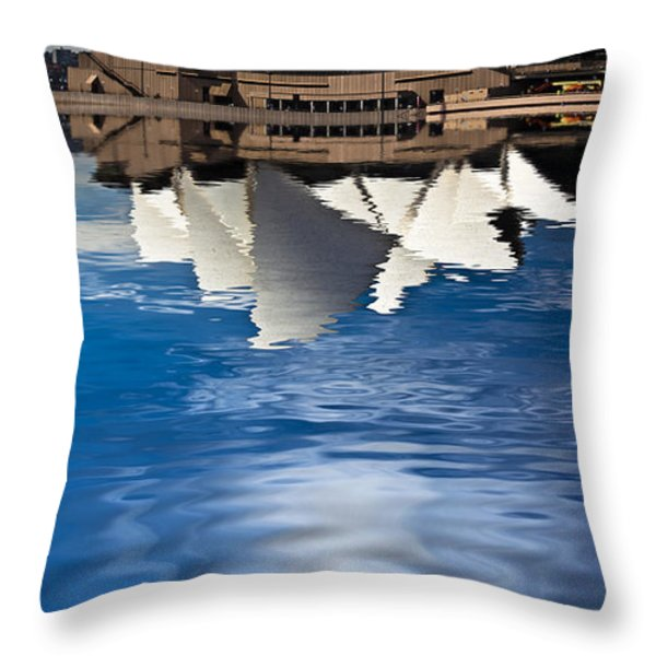 The iconic Sydney Opera House Throw Pillow by Sheila Smart