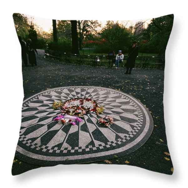 The Imagine Mosaic, A Memorial To John Throw Pillow by Melissa Farlow