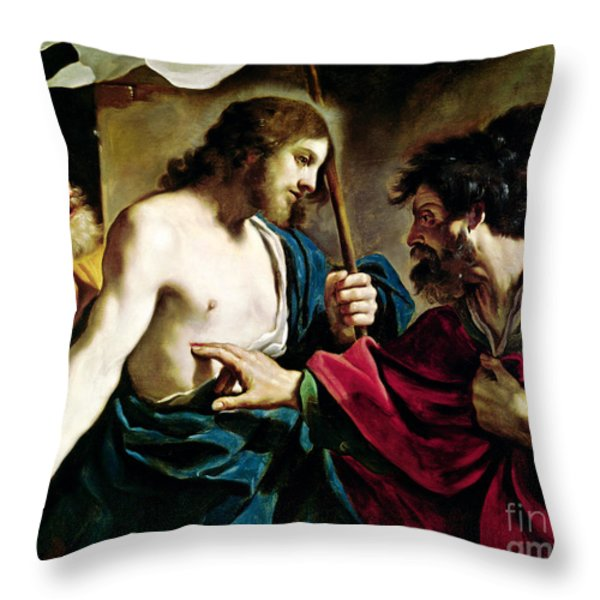 The Incredulity Of Saint Thomas Throw Pillow by Guercino