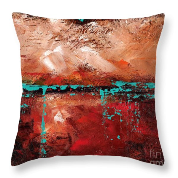 The Indian Bowl Throw Pillow by Frances Marino