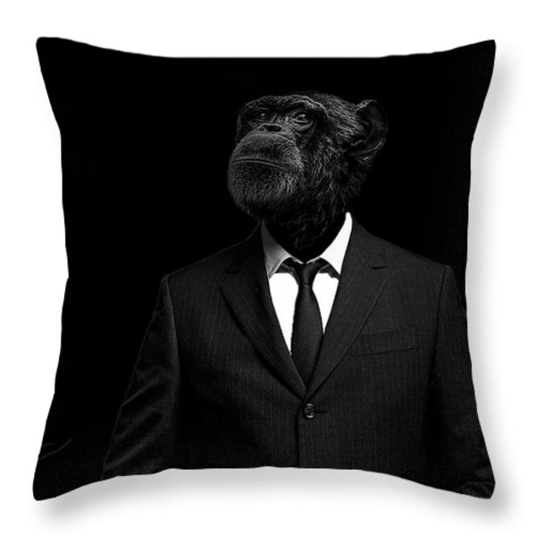 The Interview Throw Pillow by Paul Neville