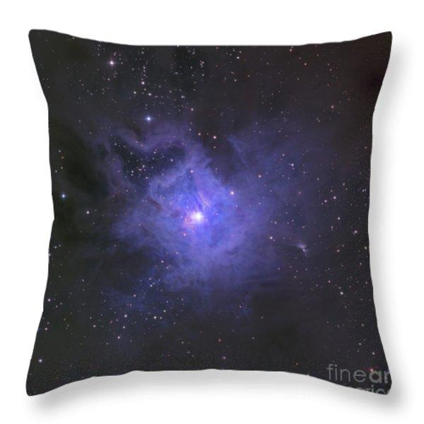 The Iris Nebula Throw Pillow by Ken Crawford