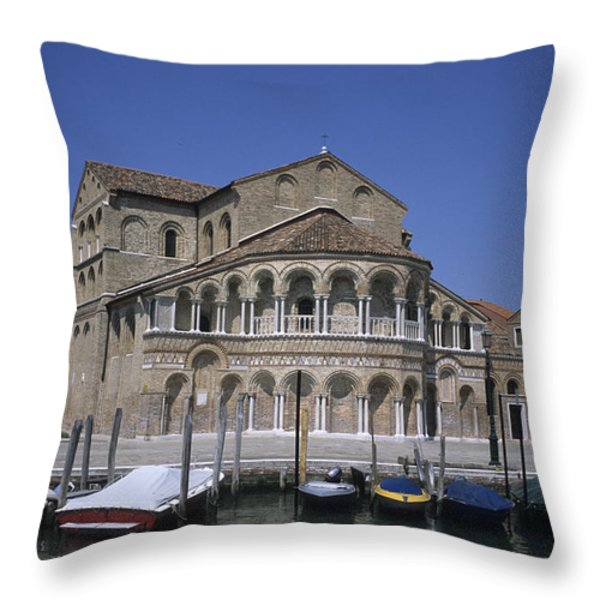 The Island Of Murano Is A Quiet Islan Throw Pillow by Taylor S. Kennedy