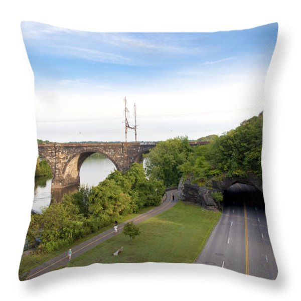 The Kelly Drive Rock Tunnel Throw Pillow by Bill Cannon