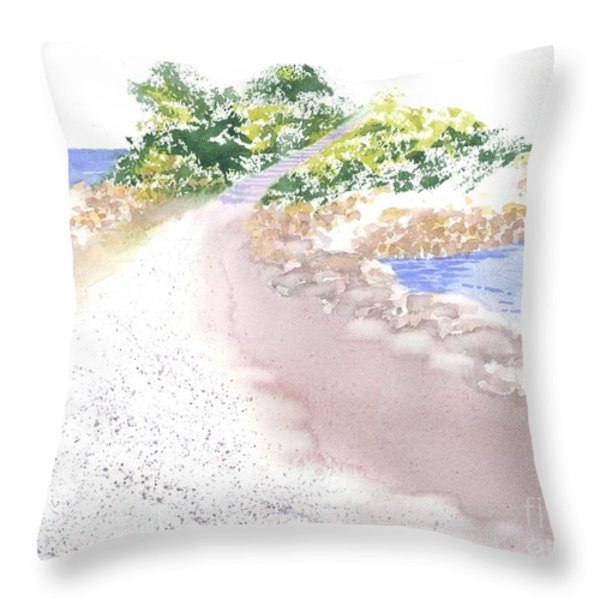 The Knob In Falmouth Throw Pillow by Joseph Gallant