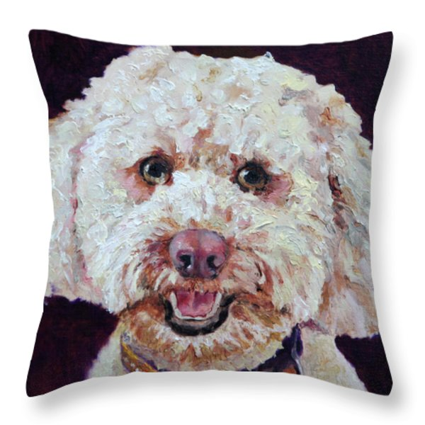 The Labradoodle Throw Pillow by Enzie Shahmiri