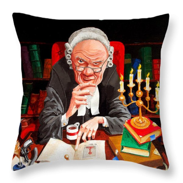 The Lawyer Throw Pillow by Johnny Trippick