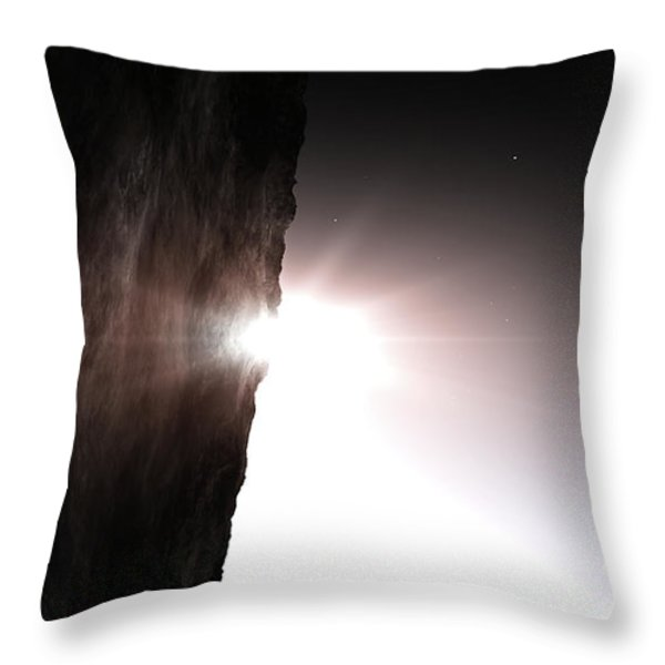 The Light Of Day Throw Pillow by Richard Rizzo