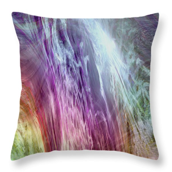 The Light Of The Spirit Throw Pillow by Linda Sannuti
