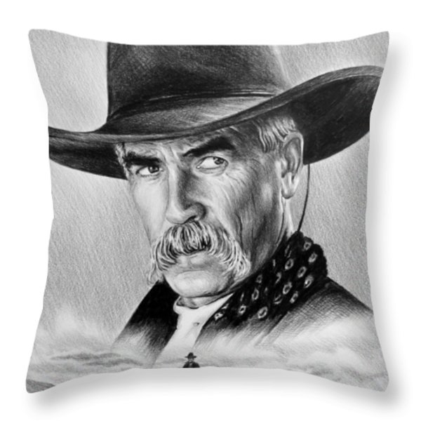 The Lone Rider Throw Pillow by Andrew Read