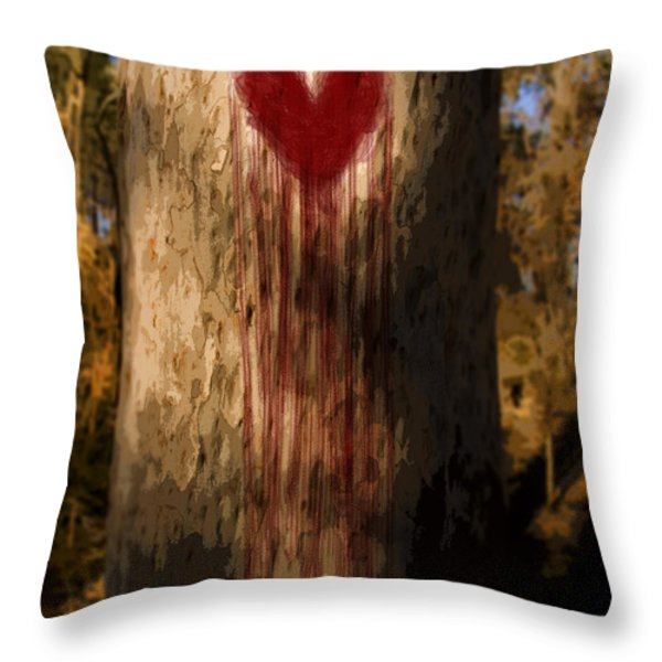 The Lonely Tree Throw Pillow by Ryan Jorgensen