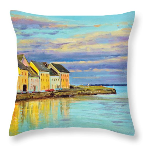 The Long Walk Galway Throw Pillow by Conor McGuire
