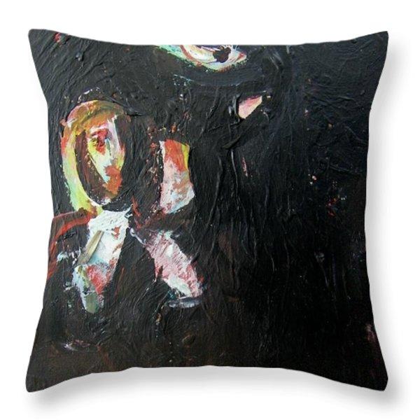The Longest Walk Throw Pillow by Judith Redman