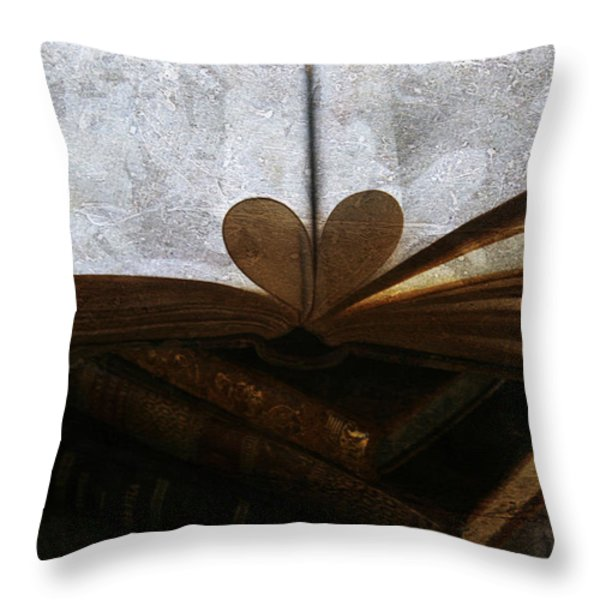 The Love of a Book Throw Pillow by Georgia Fowler