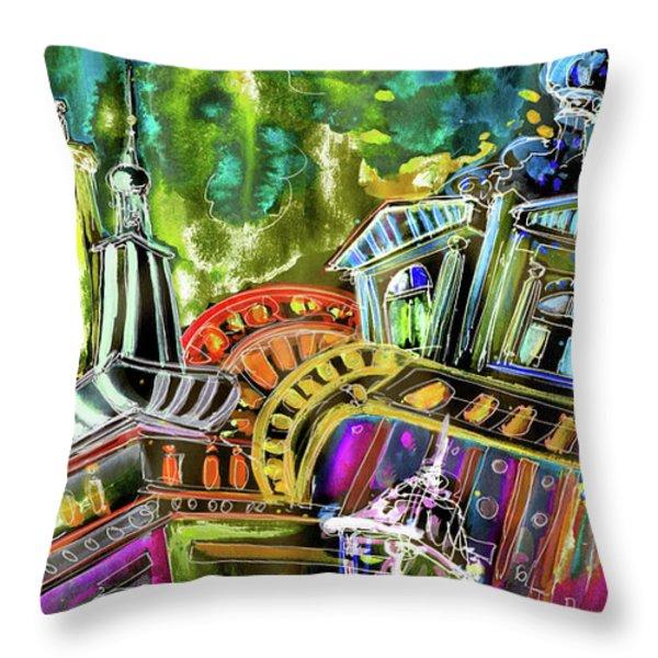 The Magical Rooftops Of Prague 02 Throw Pillow by Miki De Goodaboom