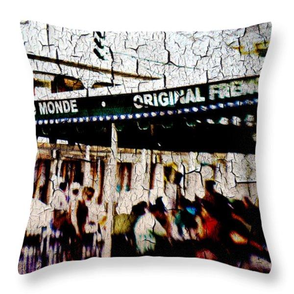The Market Throw Pillow by Scott Pellegrin