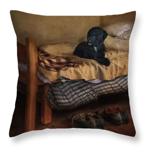 The Master's Shoes Throw Pillow by Robin-lee Vieira